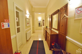 Friends Hostel Budapest Hungary (best hostel in Budapest) - entrance hall to dorm