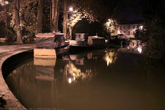 FR10 1032 Quai Edmond Combes. Le bassin du canal du Midi. Castelnaudary, Aude, Languedoc