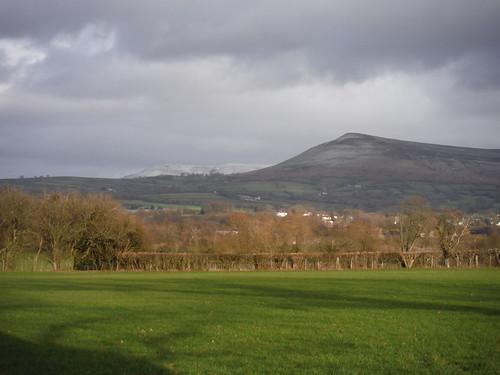 Mynydd Troed from field near Llangors