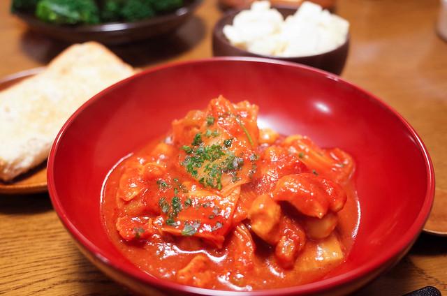 白菜と鶏肉とひよこ豆トマト煮-2