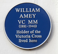 Photo of William Amey blue plaque