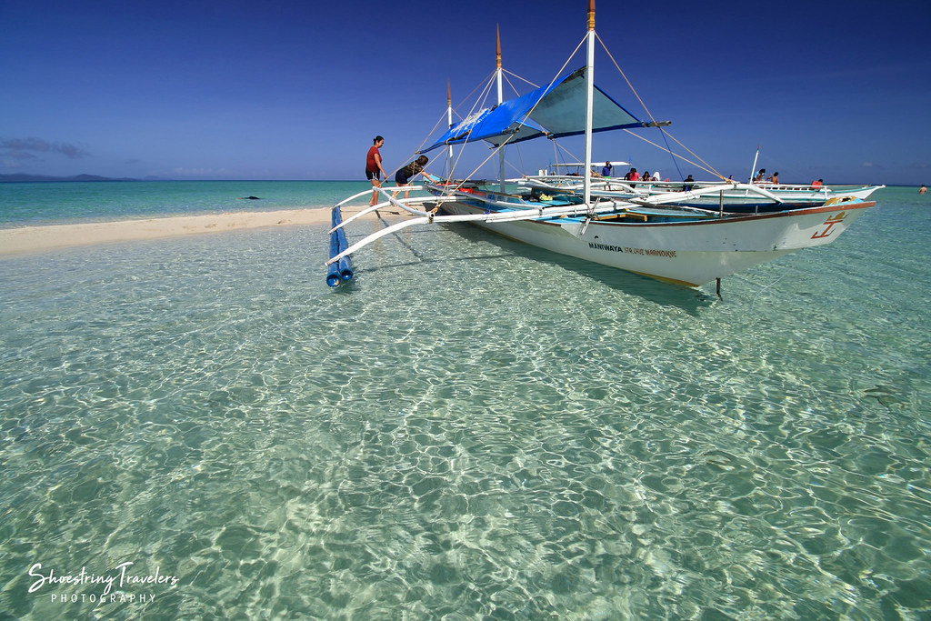 our boat at the Palad Sandbar