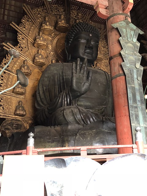 Closer shot of largest buddha in Japan