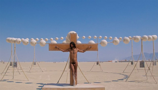 naturist Jesus Gymnasium 0020 Burning Man, Black Rock City, NV, USA