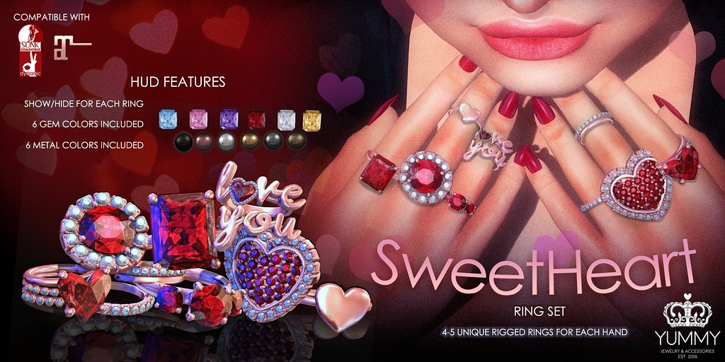 (Yummy) Sweetheart Ring set for N21 - TeleportHub.com Live!