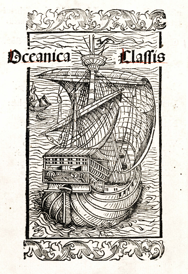 Illustrative woodcut from the Latin edition of Columbus's letter printed in Basel in 1494 announcing his discoveries.