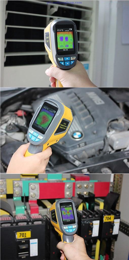 Súng đo nhiệt độ hồng ngoại đo được nhiệt độ nhiều môi trường khác nhau