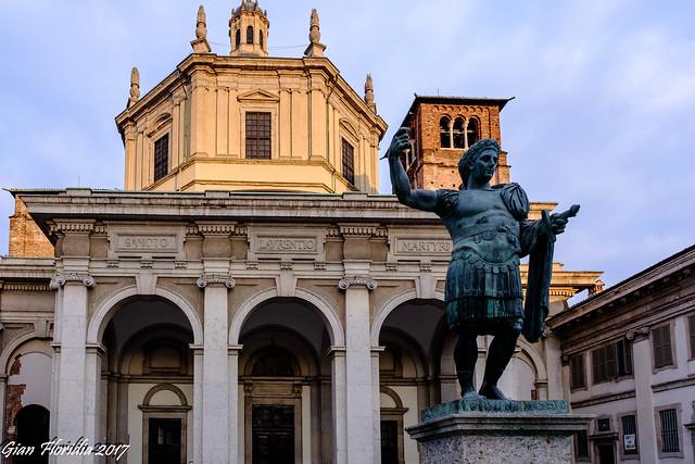 Costantino Augusto alla Basilica di S. Lorenzo
