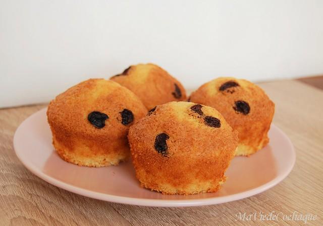 muffins sans gluten vanille raisins secs et sans lactose