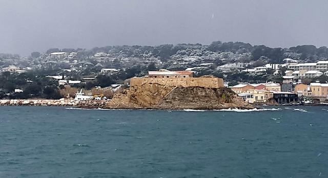 Les ports sous la neige