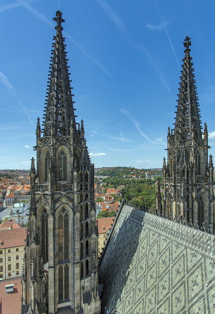 View from top of St. Vitus Cathedral