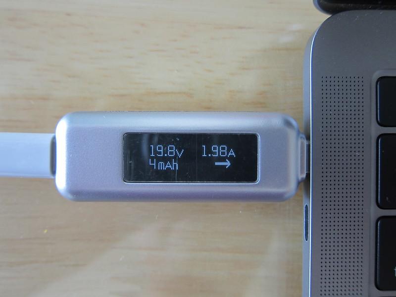 Satechi USB-C Multimeter - Plugged Into MacBook Pro