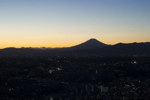 Fuji after dark
