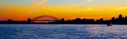 Sunset view of Sydney Harbor. From Discovering the Hidden History of Sydney