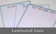 Laminated Lists and Drawing Board