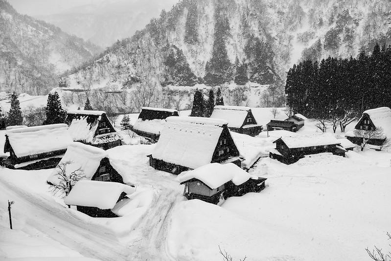 Gokayama village in Suganuma