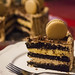Mocha chocolate cake with espresso macarons III