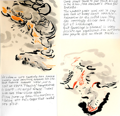 Sketchbook #111: Trip to Hawaii - Volcano
