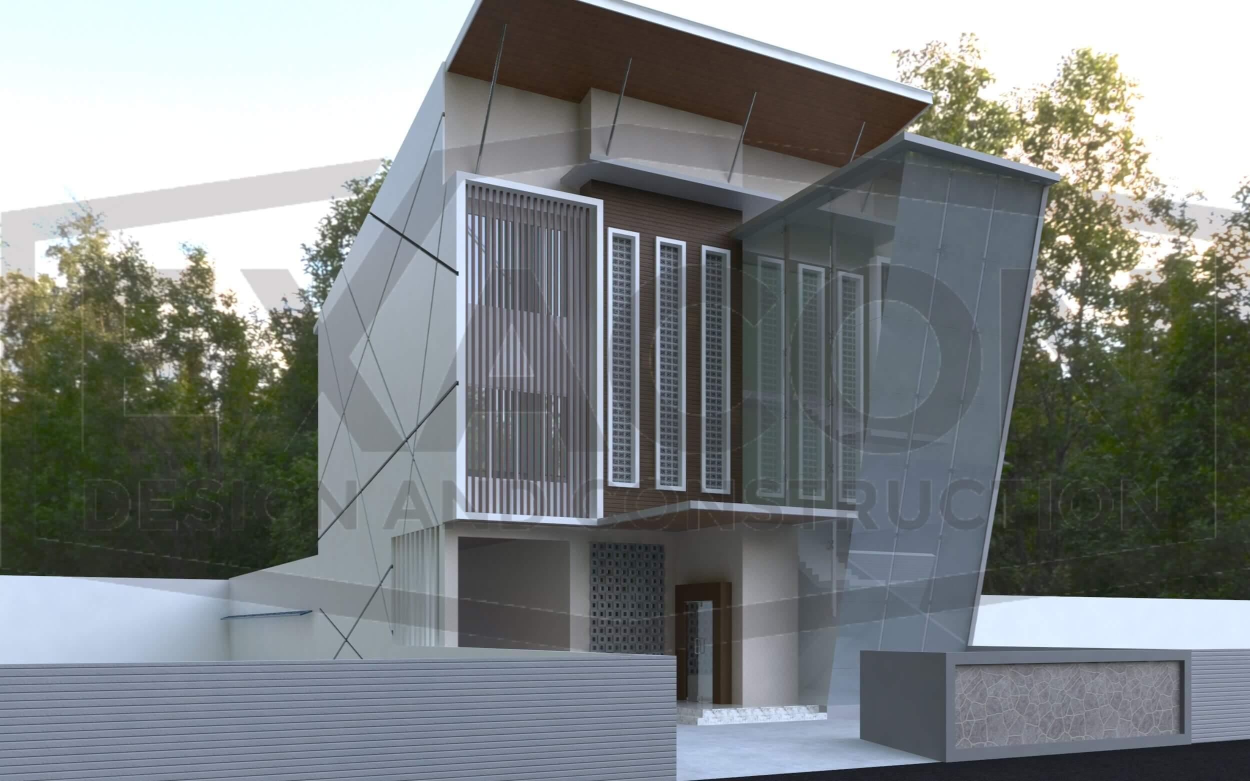 Proyek Desain Kantor Minimalis Tropis Bapak Rinaldi Depok