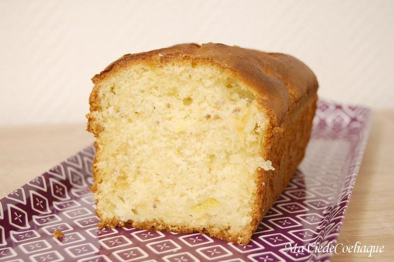 cake ananas praliné sans gluten sans lactose