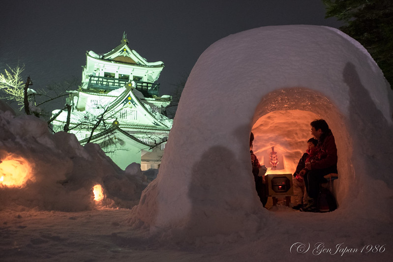 横手の雪まつり かまくら