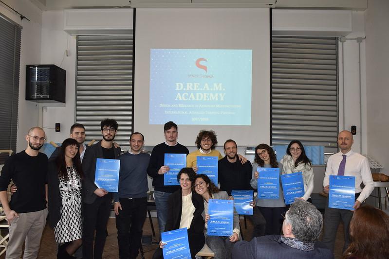 Giornata di chiusura della D.RE.A.M. Academy con la premiazione del progetto vincitore e consegna dei diplomi