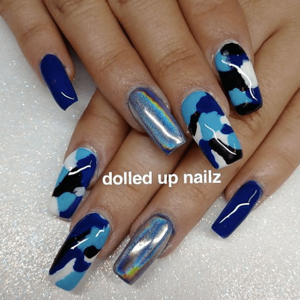 Camouflage Nail Designs 2018 Gallery - Camouflage Nail Designs 2018 Gallery - Styles Art