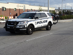 Tampa Bay 977 Police Ford SUV For Sant' Yago Knight Parade In Historical YBOR City
