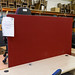 Wine fabric floor standing screen approx 1630l by 1890h E100 each