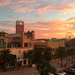 Sunrise over American Village Taken from the Vessel Campana hotel.