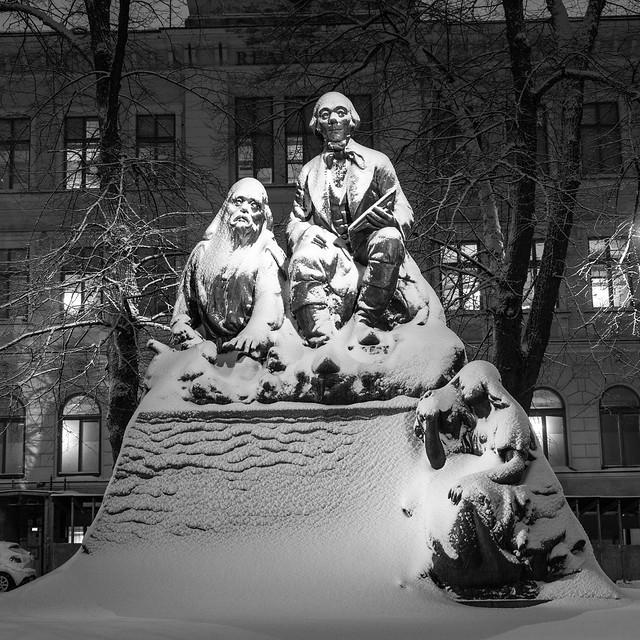 Statue of Elias Lönnrot