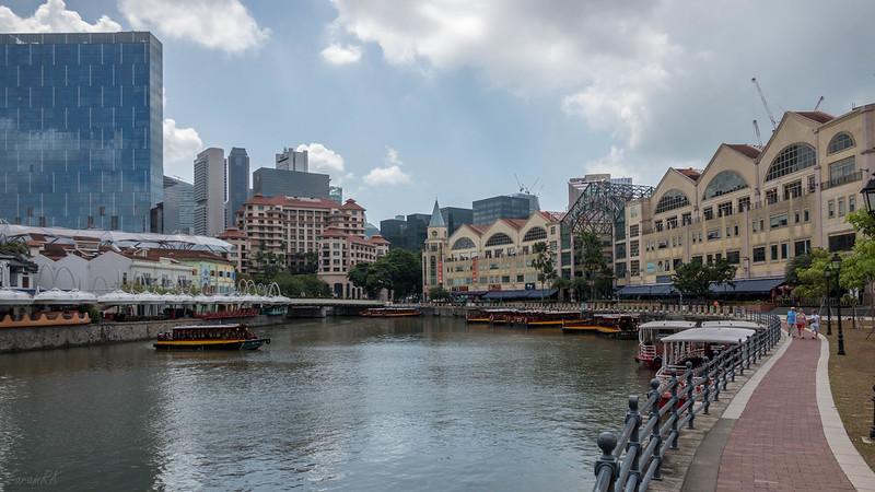 Singapore river, Clarke Quay