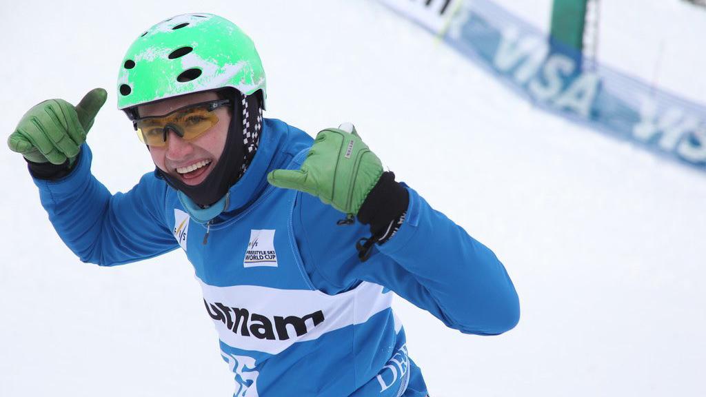 Aerial skier Lloyd Wallace at the PyeongChang 2018 Winter Olympics.