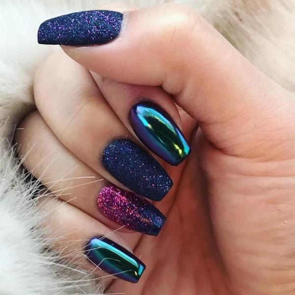 2018 Cute Spring And Summer Metallic Nail Art Ideas - Nails C