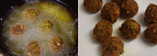 Falafel cooking steps by GoSpicy.net