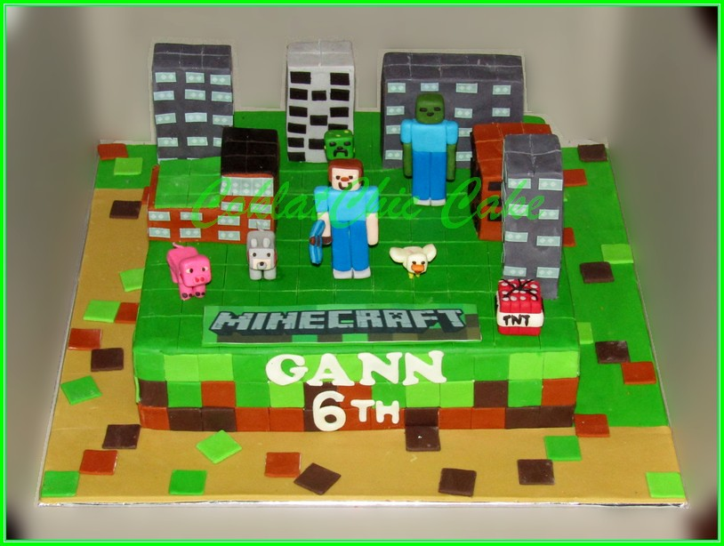 Cake Minecraft GANN 30cm