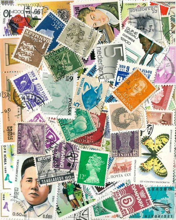 Známky Svet balíček 100 ks rôznych