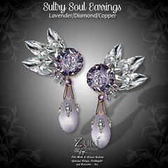 55L Limited Time Sultry Soul Earrings - LavenderDiaCopper