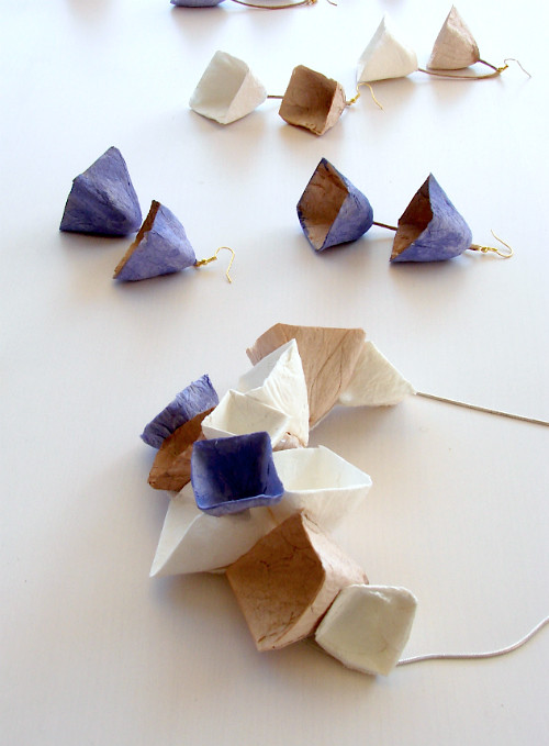 Handmade Geometric Paper Jewelry by Alessandre Fabre Repetto