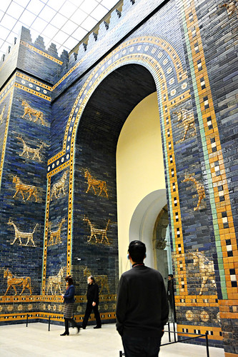 Reconstruction of the Ishtar Gate of ancient Babylon