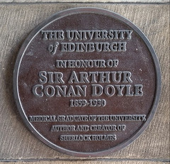Photo of Arthur Conan Doyle red plaque