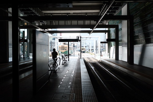 路面電車の駅