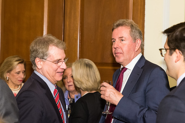 Rich Merski, Ambassador Darroch - 2017 Tribute Dinner at the Residence of the British Ambassador
