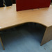 1600 by 1200 beech radial desk E130