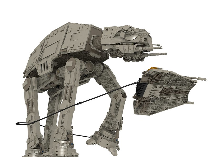 AT-AT vs T-47 Snowspeeder