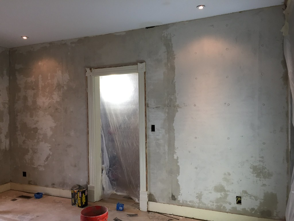 Good When All Was Said And Done With This First Coat Of Plaster We Had Ourselves  A Room That No Longer Had Massive Missing Sections Of Plaster, ...