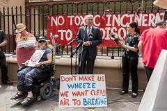 Luke Foley speaks at No Incinerator rally