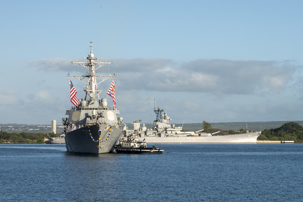 PEARL HARBOR - The guided-missile destroyer USS Hopper (DDG 70) returned to its homeport Joint Base Pearl Harbor-Hickam after a successful four-month deployment, Feb. 9.
