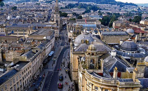 buildings architecture monuments city cityscape rooftops streets bath england skyline