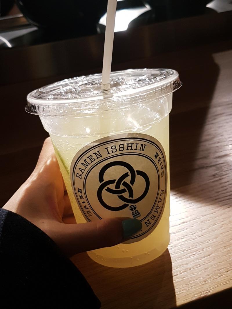 Ramen Isshin ginger ale